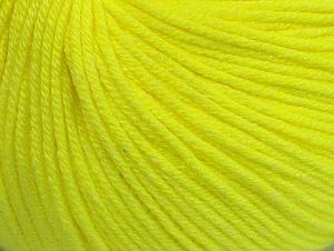Fiber Content 60% Cotton, 40% Acrylic, Neon Yellow, Brand Ice Yarns, Yarn Thickness 2 Fine  Sport, Baby, fnt2-63004