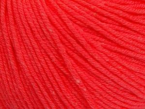 Fiber Content 60% Cotton, 40% Acrylic, Neon Salmon, Brand Ice Yarns, Yarn Thickness 2 Fine  Sport, Baby, fnt2-63006