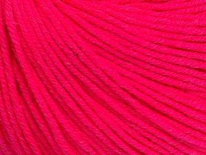 Fiber Content 60% Cotton, 40% Acrylic, Neon Pink, Brand Ice Yarns, Yarn Thickness 2 Fine  Sport, Baby, fnt2-63008