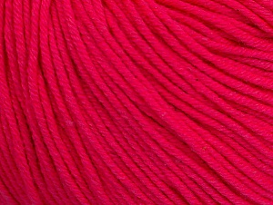 Fiber Content 60% Cotton, 40% Acrylic, Neon Pink, Brand Ice Yarns, Yarn Thickness 2 Fine  Sport, Baby, fnt2-63014