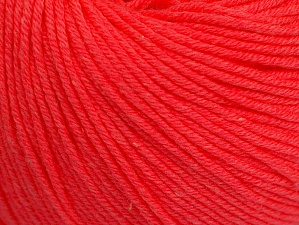Fiber Content 60% Cotton, 40% Acrylic, Neon Salmon, Brand Ice Yarns, Yarn Thickness 2 Fine  Sport, Baby, fnt2-63015