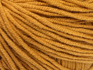 Fiber Content 50% Cotton, 50% Acrylic, Brand Ice Yarns, Gold, Yarn Thickness 3 Light  DK, Light, Worsted, fnt2-63031
