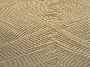 Fiber Content 55% Cotton, 45% Acrylic, Brand Ice Yarns, Ecru, Yarn Thickness 1 SuperFine  Sock, Fingering, Baby, fnt2-63108