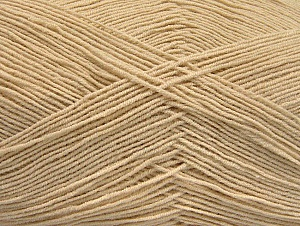 Fiber Content 55% Cotton, 45% Acrylic, Light Beige, Brand Ice Yarns, Yarn Thickness 1 SuperFine  Sock, Fingering, Baby, fnt2-63109