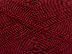 Fiber Content 55% Cotton, 45% Acrylic, Brand Ice Yarns, Burgundy, Yarn Thickness 1 SuperFine  Sock, Fingering, Baby, fnt2-63110