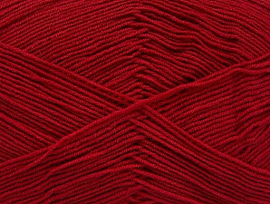 Fiber Content 55% Cotton, 45% Acrylic, Brand Ice Yarns, Dark Red, Yarn Thickness 1 SuperFine  Sock, Fingering, Baby, fnt2-63111