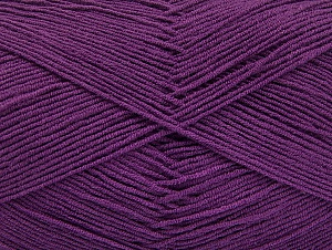 Fiber Content 55% Cotton, 45% Acrylic, Purple, Brand Ice Yarns, Yarn Thickness 1 SuperFine  Sock, Fingering, Baby, fnt2-63113