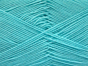Fiber Content 55% Cotton, 45% Acrylic, Light Turquoise, Brand Ice Yarns, Yarn Thickness 1 SuperFine  Sock, Fingering, Baby, fnt2-63116