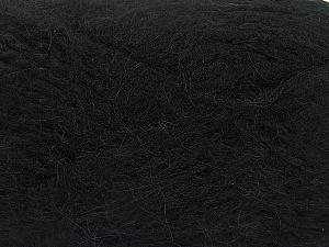 SuperBulky  Fiber Content 70% Acrylic, 30% Angora, Brand Ice Yarns, Black, Yarn Thickness 6 SuperBulky  Bulky, Roving, fnt2-63121