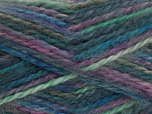 SuperBulky  Fiber Content 70% Acrylic, 30% Angora, Lavender, Brand Ice Yarns, Green, Blue, Yarn Thickness 6 SuperBulky  Bulky, Roving, fnt2-63138