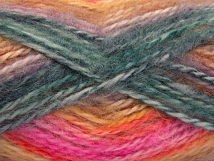 SuperBulky  Fiber Content 70% Acrylic, 30% Angora, Teal, Pink, Lilac, Brand Ice Yarns, Gold, Yarn Thickness 6 SuperBulky  Bulky, Roving, fnt2-63144
