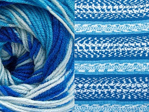 Fiber Content 70% Acrylic, 30% Wool, Brand Ice Yarns, Blue Shades, Yarn Thickness 3 Light  DK, Light, Worsted, fnt2-63205