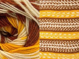 Fiber Content 70% Acrylic, 30% Wool, Yellow, Brand Ice Yarns, Cream, Copper, Yarn Thickness 3 Light  DK, Light, Worsted, fnt2-63209