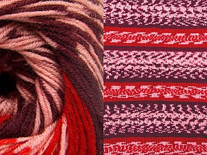 Fiber Content 70% Acrylic, 30% Wool, Red, Pink, Maroon, Brand Ice Yarns, Yarn Thickness 3 Light  DK, Light, Worsted, fnt2-63216