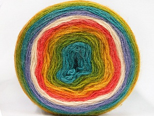 Fiber Content 60% Premium Acrylic, 20% Mohair, 20% Wool, Turquoise, Salmon, Lilac, Brand Ice Yarns, Green, Gold, Cream, Yarn Thickness 2 Fine  Sport, Baby, fnt2-63281