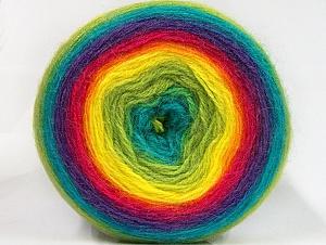 Fiber Content 60% Premium Acrylic, 20% Wool, 20% Mohair, Rainbow, Brand Ice Yarns, Yarn Thickness 2 Fine  Sport, Baby, fnt2-63282