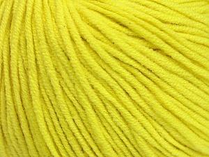Fiber Content 50% Acrylic, 50% Cotton, Neon Yellow, Brand Ice Yarns, Yarn Thickness 3 Light  DK, Light, Worsted, fnt2-63342