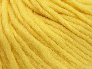 Fiber Content 100% Wool, Light Yellow, Brand Ice Yarns, Yarn Thickness 5 Bulky  Chunky, Craft, Rug, fnt2-63347
