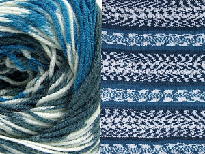 Fiber Content 70% Acrylic, 30% Wool, White, Brand Ice Yarns, Blue, Anthracite Black, Yarn Thickness 3 Light  DK, Light, Worsted, fnt2-63387