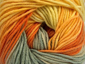 Fiber Content 55% Cotton, 45% Acrylic, Yellow, Orange, Khaki, Brand Ice Yarns, Gold, Yarn Thickness 3 Light  DK, Light, Worsted, fnt2-63393