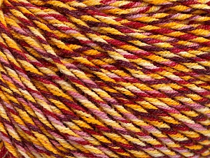 Fiber Content 55% Cotton, 45% Acrylic, Yellow Shades, Red, Pink, Brand Ice Yarns, Yarn Thickness 3 Light  DK, Light, Worsted, fnt2-63410