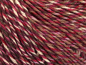 Fiber Content 55% Cotton, 45% Acrylic, White, Red, Maroon, Lilac, Brand Ice Yarns, Brown, Yarn Thickness 3 Light  DK, Light, Worsted, fnt2-63413