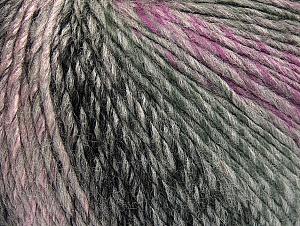 Fiber Content 70% Acrylic, 30% Wool, Lilac Shades, Brand Ice Yarns, Grey Shades, Yarn Thickness 4 Medium  Worsted, Afghan, Aran, fnt2-63450