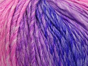 Fiber Content 70% Acrylic, 30% Wool, Purple, Pink Shades, Lilac Shades, Brand Ice Yarns, Yarn Thickness 4 Medium  Worsted, Afghan, Aran, fnt2-63453