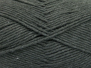 Fiber Content 52% Nylon, 48% Acrylic, Brand Ice Yarns, Dark Grey, Yarn Thickness 4 Medium  Worsted, Afghan, Aran, fnt2-63463