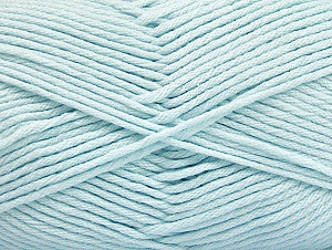 Fiber Content 52% Nylon, 48% Acrylic, Light Blue, Brand Ice Yarns, Yarn Thickness 4 Medium  Worsted, Afghan, Aran, fnt2-63467