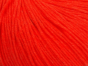 Fiber Content 60% Cotton, 40% Acrylic, Neon Orange, Brand Ice Yarns, Yarn Thickness 2 Fine  Sport, Baby, fnt2-63478