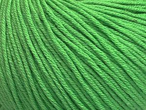 Fiber Content 60% Cotton, 40% Acrylic, Light Green, Brand Ice Yarns, Yarn Thickness 2 Fine  Sport, Baby, fnt2-63480