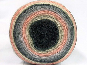 Fiber Content 60% Premium Acrylic, 20% Wool, 20% Mohair, Light Salmon, Brand Ice Yarns, Grey Shades, Cream, Yarn Thickness 2 Fine  Sport, Baby, fnt2-63716