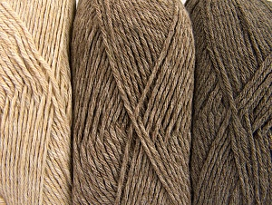 Fiber Content 90% Acrylic, 10% Polyester, Brand ICE, Cream, Camel, Beige, Yarn Thickness 3 Light  DK, Light, Worsted, fnt2-64018