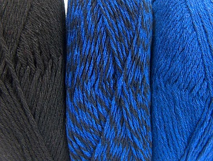 Fiber Content 90% Acrylic, 10% Polyester, Brand Ice Yarns, Blue, Black, Yarn Thickness 3 Light  DK, Light, Worsted, fnt2-64021