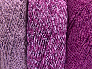 Fiber Content 90% Acrylic, 10% Polyester, Lilac, Brand Ice Yarns, Fuchsia, Yarn Thickness 3 Light  DK, Light, Worsted, fnt2-64023