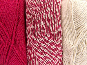 Fiber Content 90% Acrylic, 10% Polyester, Brand Ice Yarns, Ecru, Candy Pink, Yarn Thickness 3 Light  DK, Light, Worsted, fnt2-64024