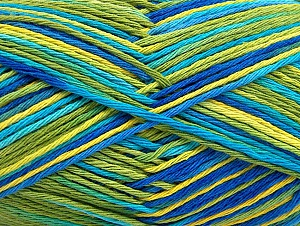 Fiber Content 100% Cotton, Brand Ice Yarns, Green Shades, Blue Shades, Yarn Thickness 3 Light  DK, Light, Worsted, fnt2-64039