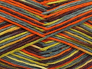 Fiber Content 100% Cotton, Brand Ice Yarns, Grey, Green, Gold, Brown, Yarn Thickness 3 Light  DK, Light, Worsted, fnt2-64172