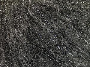 Fiber Content 30% Acrylic, 30% Polyester, 25% Wool, 15% Metallic Lurex, Brand Ice Yarns, Dark Grey, Yarn Thickness 4 Medium  Worsted, Afghan, Aran, fnt2-64174