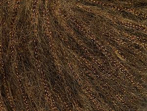 Fiber Content 30% Acrylic, 30% Polyester, 25% Wool, 15% Metallic Lurex, Brand Ice Yarns, Brown, Yarn Thickness 4 Medium  Worsted, Afghan, Aran, fnt2-64178