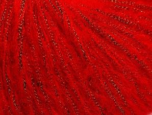 Fiber Content 30% Polyester, 30% Acrylic, 25% Wool, 15% Metallic Lurex, Red, Brand Ice Yarns, Yarn Thickness 4 Medium  Worsted, Afghan, Aran, fnt2-64180