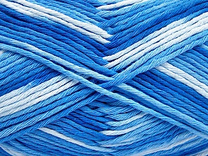 Fiber Content 100% Cotton, Brand Ice Yarns, Blue Shades, Yarn Thickness 4 Medium  Worsted, Afghan, Aran, fnt2-64187