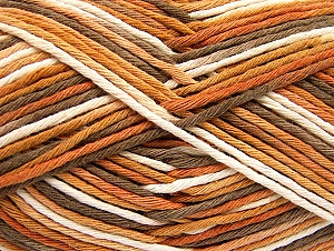 Fiber Content 100% Cotton, White, Brand Ice Yarns, Camel, Brown, Yarn Thickness 4 Medium  Worsted, Afghan, Aran, fnt2-64192
