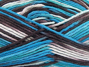 Fiber Content 100% Cotton, White, Turquoise, Maroon, Brand Ice Yarns, Blue, Yarn Thickness 4 Medium  Worsted, Afghan, Aran, fnt2-64199