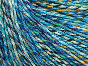 Fiber Content 55% Cotton, 45% Acrylic, Turquoise, Purple, Light Green, Brand Ice Yarns, Gold, Yarn Thickness 3 Light  DK, Light, Worsted, fnt2-64201