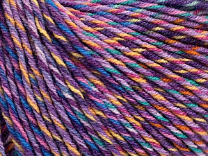 Fiber Content 55% Cotton, 45% Acrylic, Lilac Shades, Light Green, Brand Ice Yarns, Gold, Cream, Yarn Thickness 3 Light  DK, Light, Worsted, fnt2-64202