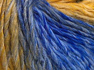 Fiber Content 70% Acrylic, 30% Wool, Brand Ice Yarns, Gold Shades, Blue, Yarn Thickness 3 Light  DK, Light, Worsted, fnt2-64218