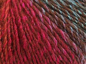 Fiber Content 70% Acrylic, 30% Wool, Brand Ice Yarns, Green, Gold, Fuchsia, Brown, Blue, Yarn Thickness 3 Light  DK, Light, Worsted, fnt2-64221
