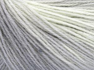 Fiber Content 60% Acrylic, 20% Angora, 20% Wool, Light Cream, Brand Ice Yarns, Grey Shades, Yarn Thickness 2 Fine  Sport, Baby, fnt2-64222